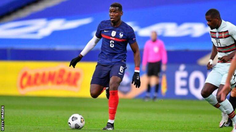 Pogba featured for France in the Nations League earlier this month
